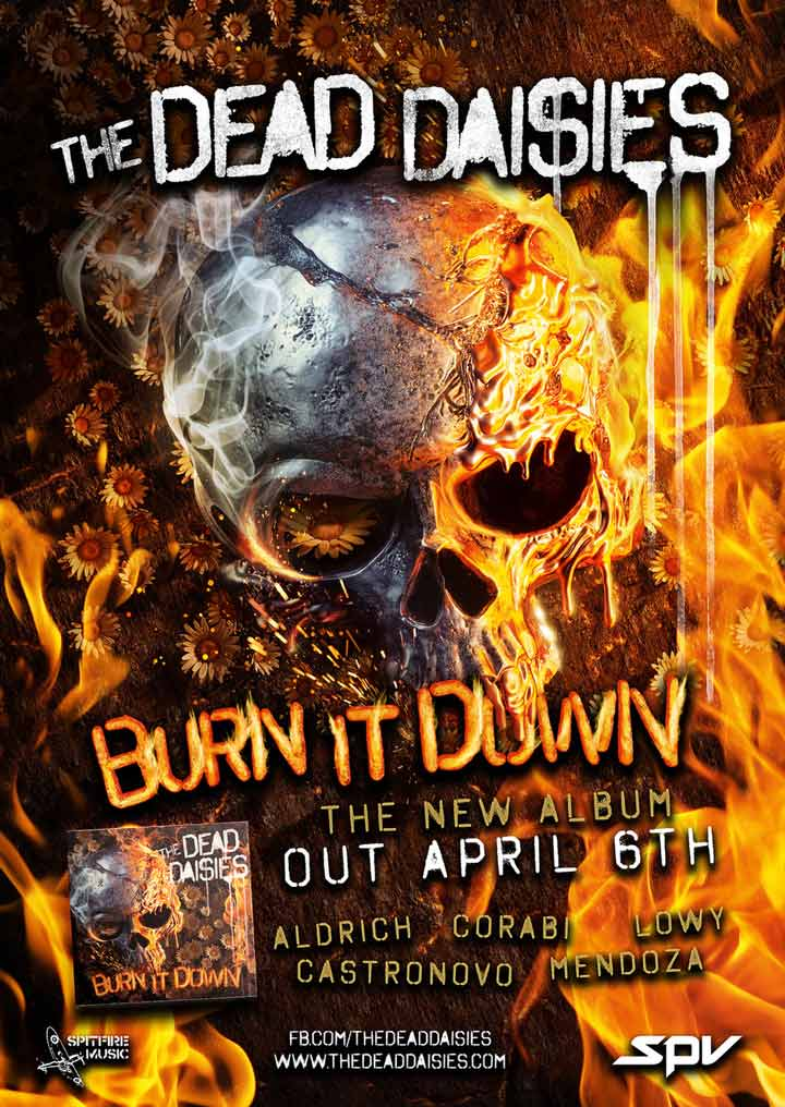 The Dead Daisies - Burn It Down - Album Poster - 2018